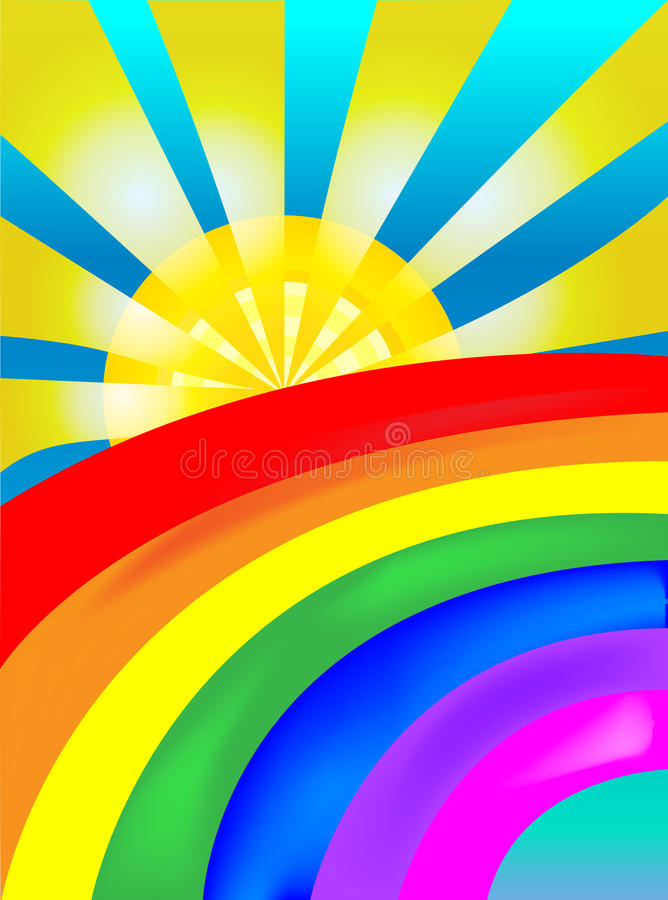 Arco-íris de Sun ilustração stock