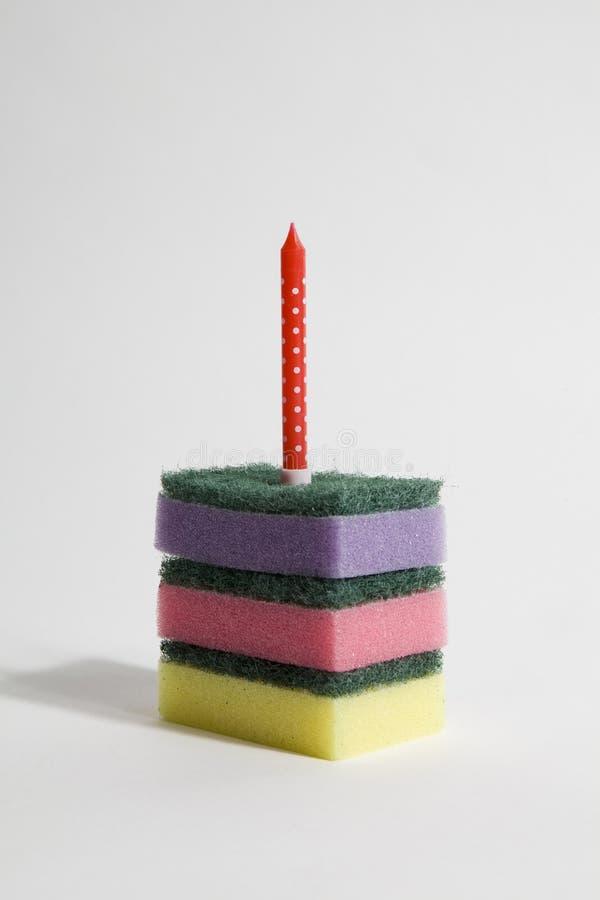 Arco-íris do bolo de esponja fotografia de stock royalty free