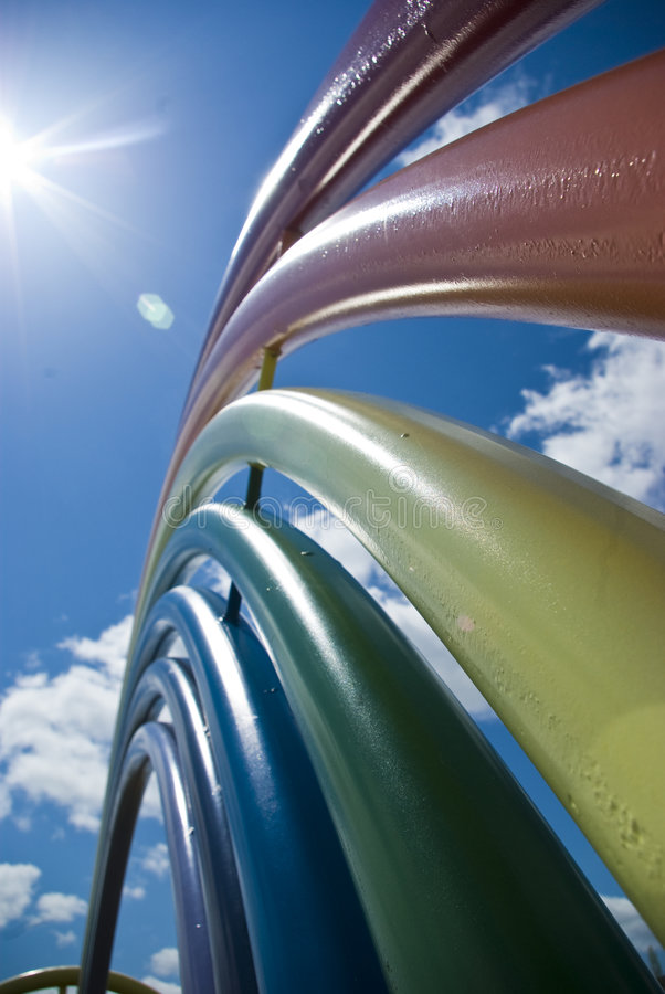 Arco-íris do metal fotos de stock royalty free