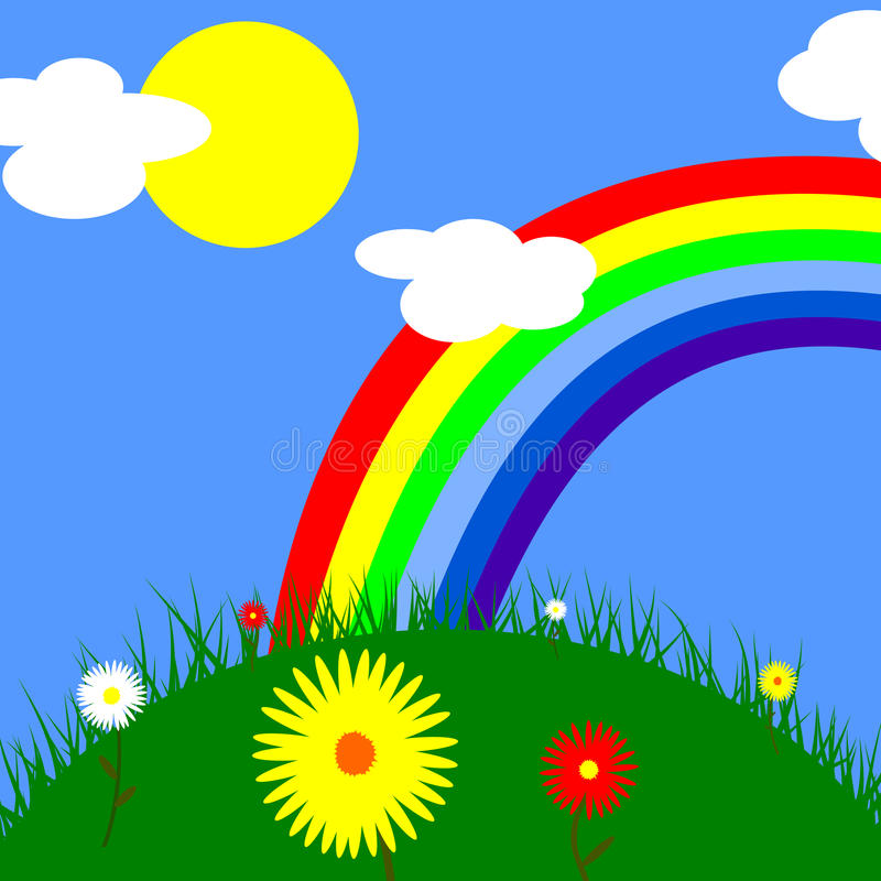 Arco-íris do verão fotografia de stock royalty free