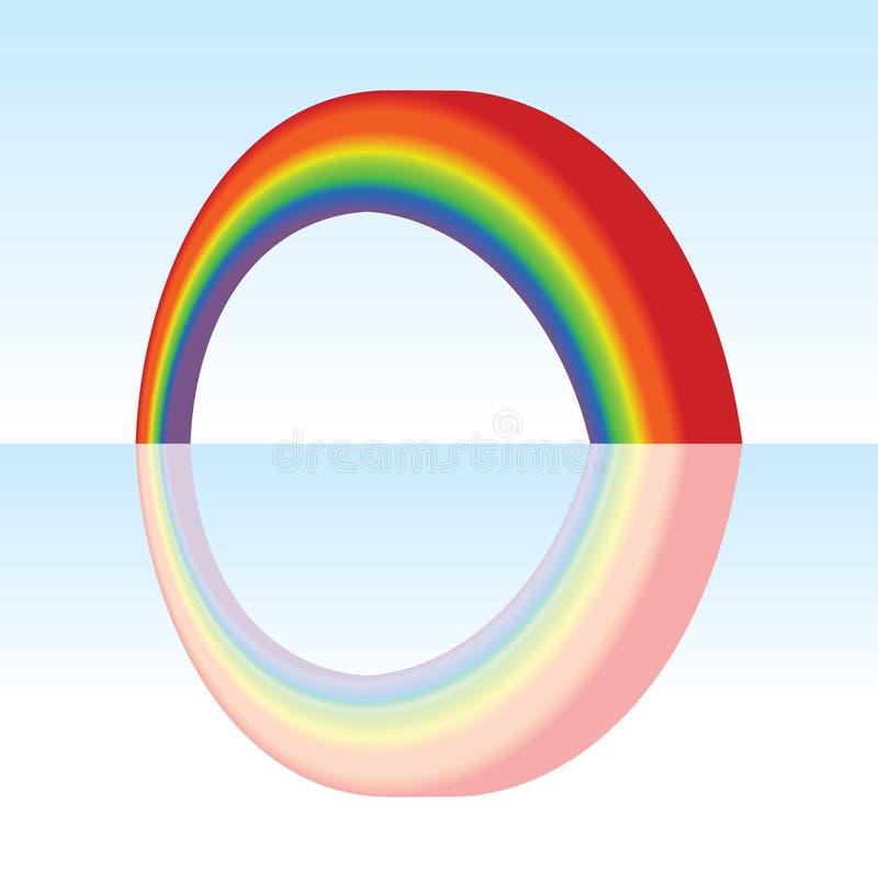 Arco-íris do vetor ilustração stock