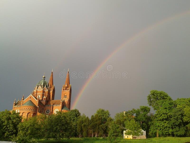 Arco-íris dobro fotografia de stock