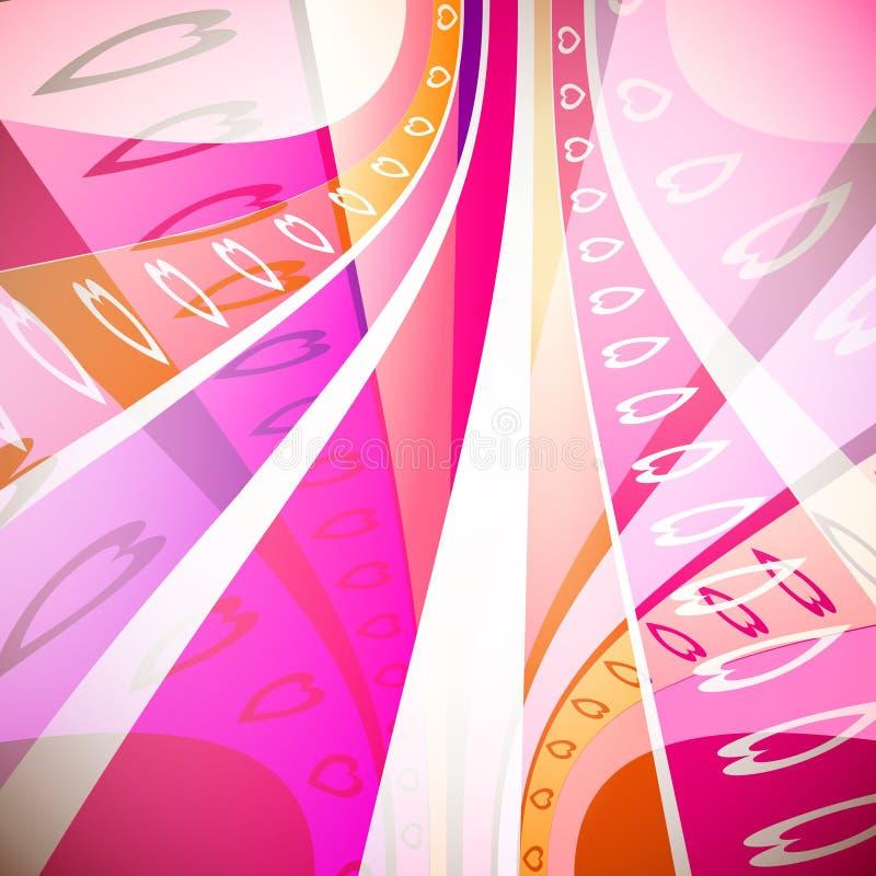 Arco-íris dos corações ilustração stock
