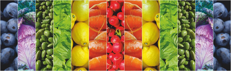 Arco-íris dos vegetais de frutos do alimento foto de stock