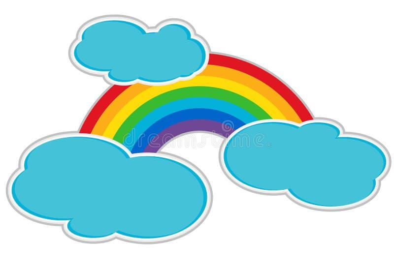 Arco-íris e nuvens ilustração do vetor