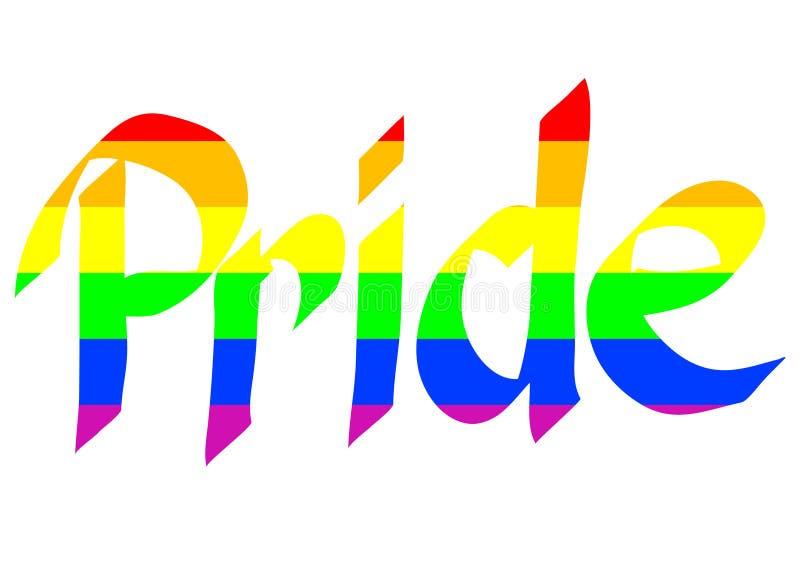 Arco-íris e orgulho dois ilustração royalty free