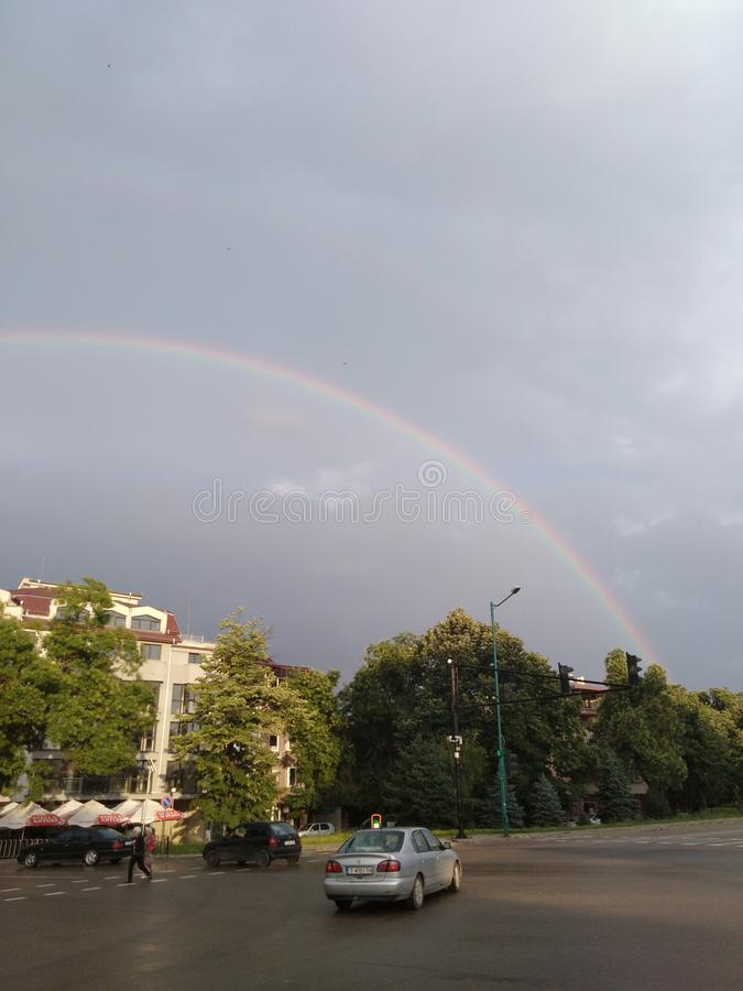Arco-íris em Targovishte imagem de stock