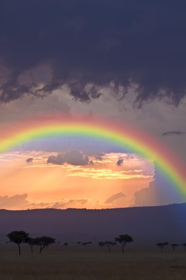 Arco-íris mara imagem de stock
