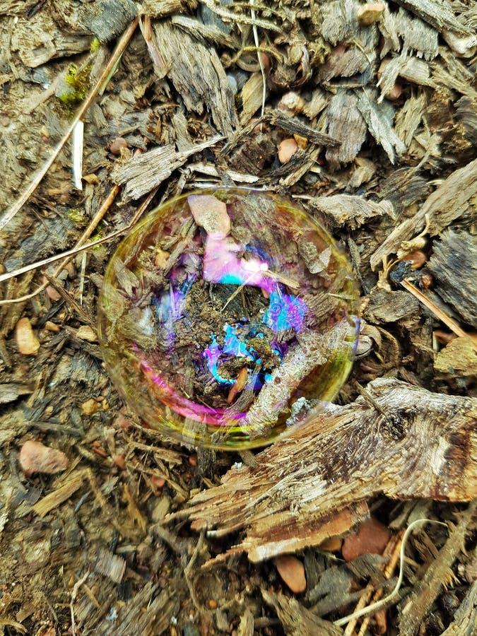Arco-íris na bolha imagens de stock
