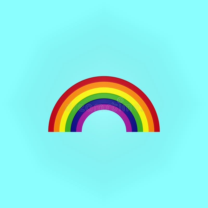 Arco-íris no azul ilustração do vetor