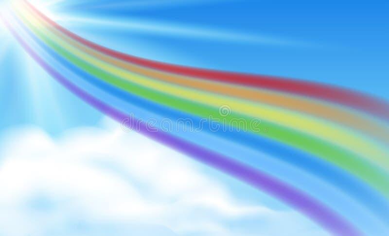 Arco-íris no céu ilustração do vetor