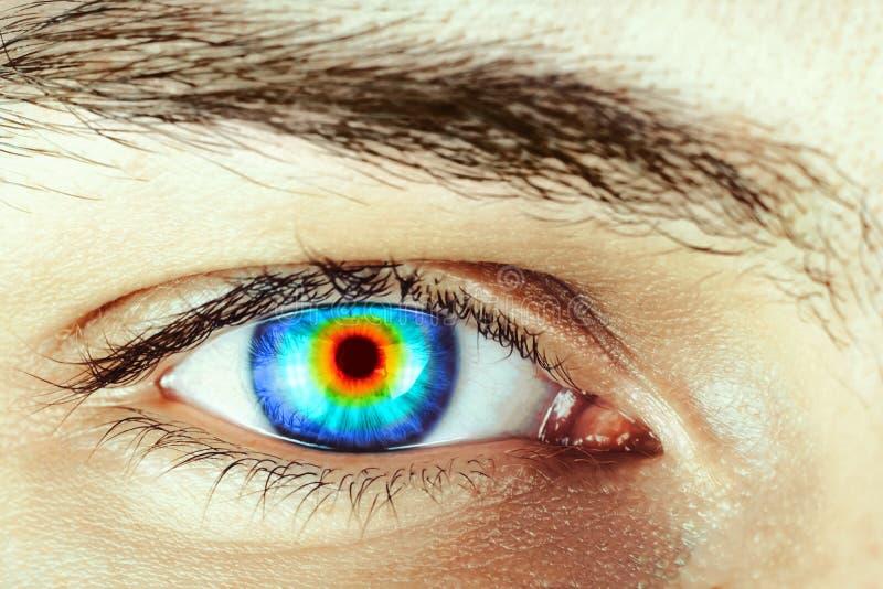 Arco-íris no olho fotografia de stock