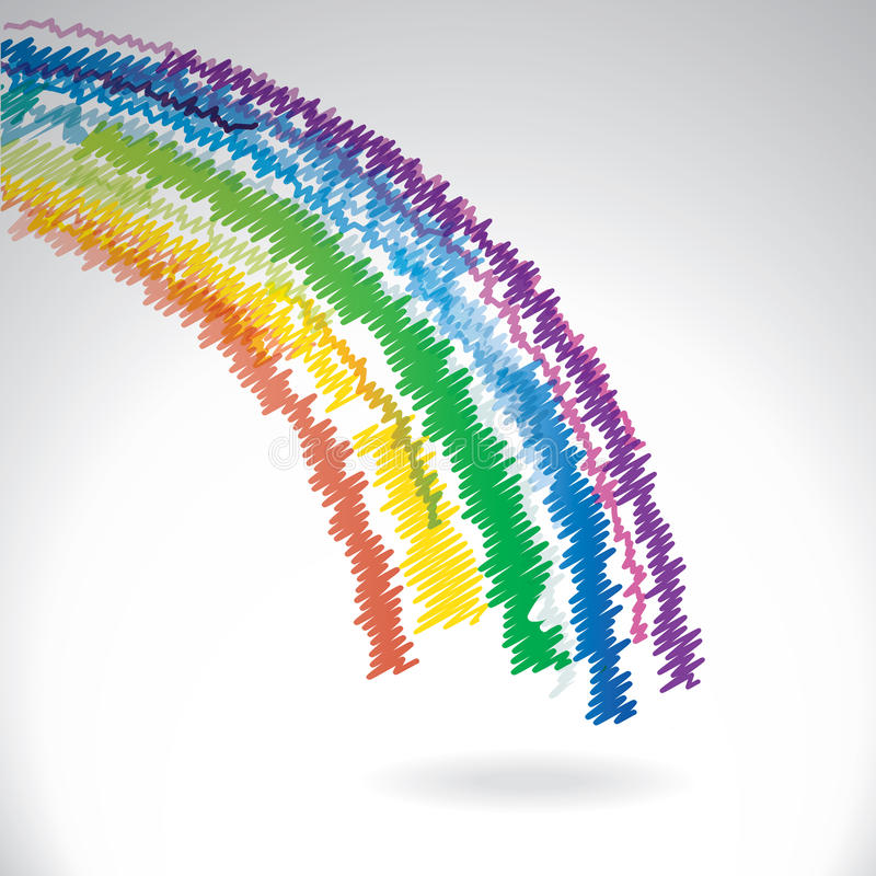 Arco-íris tirado vetor ilustração stock