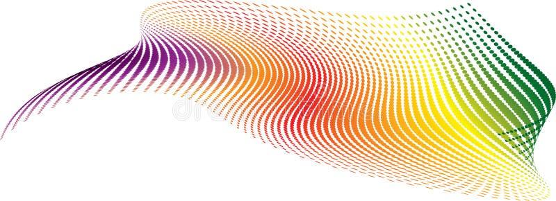 Arco-íris torcido ilustração do vetor
