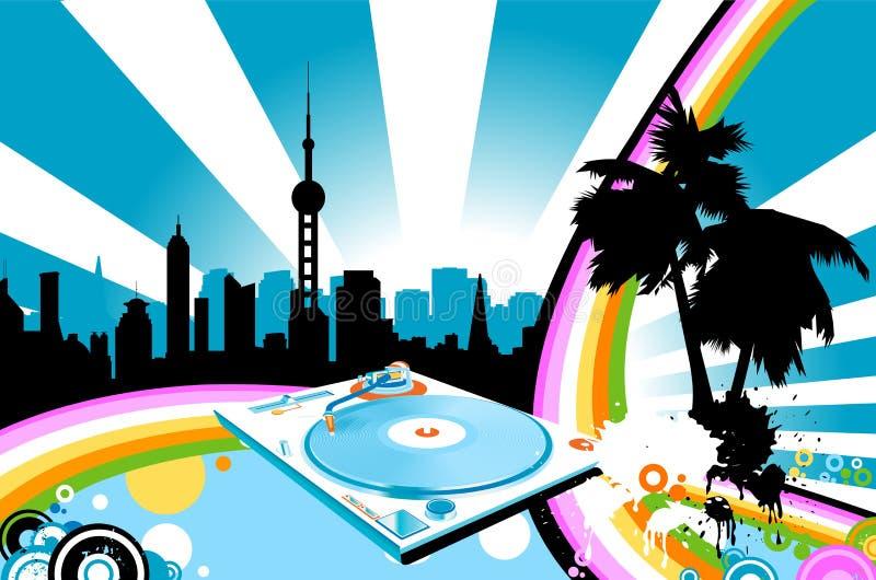 Arco-íris urbano ilustração royalty free