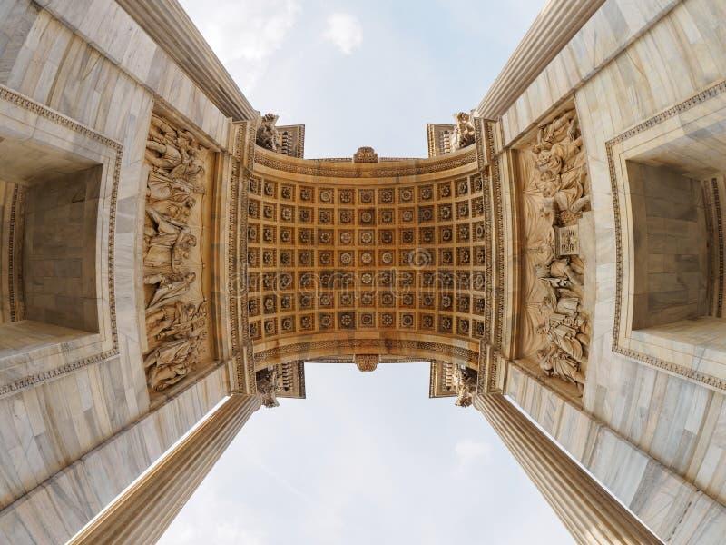 arco ρυθμός του Μιλάνου della στοκ εικόνες