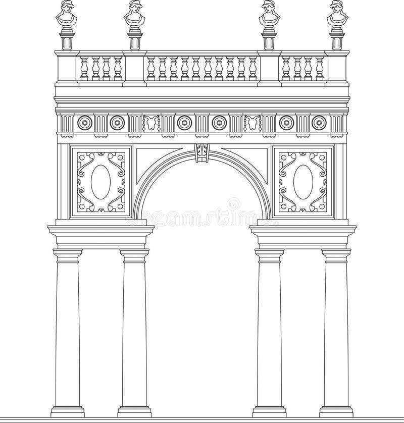 Arco Antic antigo ilustração do vetor