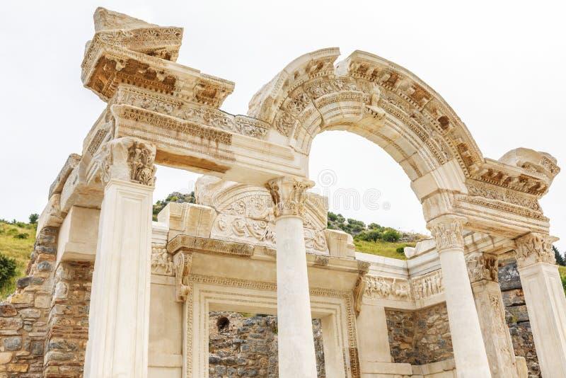 Arco antico in Ephesus Bella vecchia costruzione conservata immagini stock libere da diritti