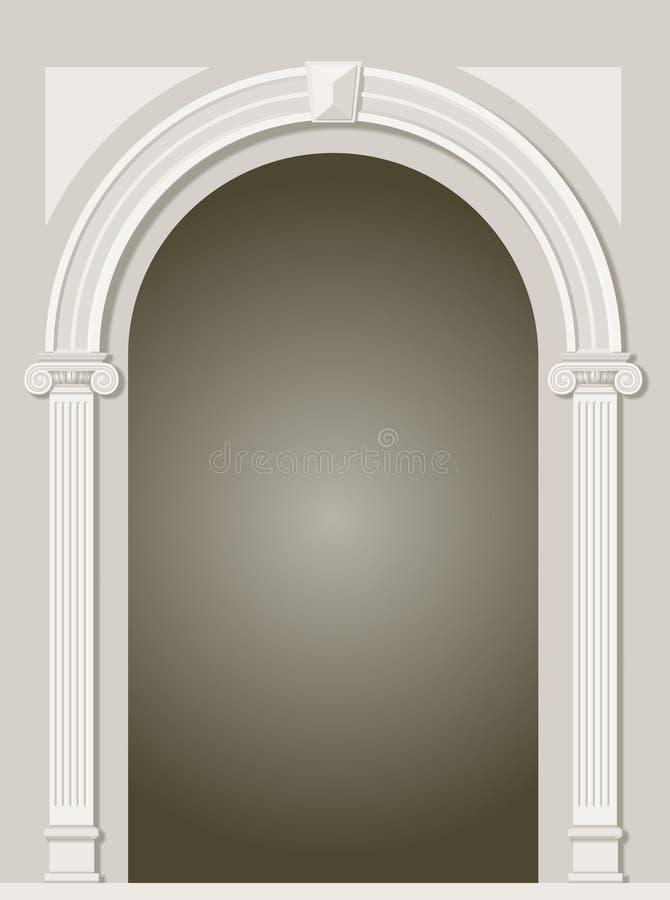 Arco antigo clássico ilustração do vetor