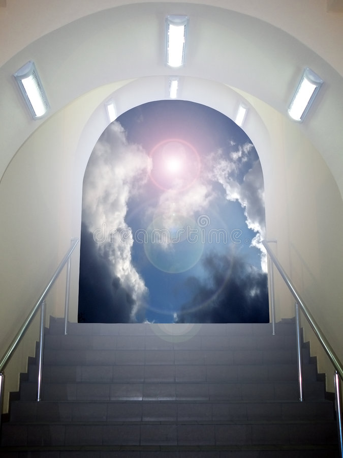 Arco ao céu imagens de stock royalty free