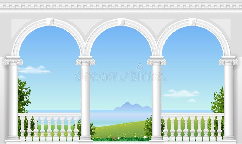 Arco bianco del palazzo royalty illustrazione gratis