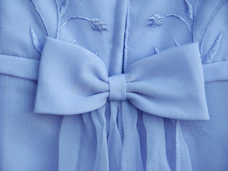 Arco blu del vestito fotografia stock