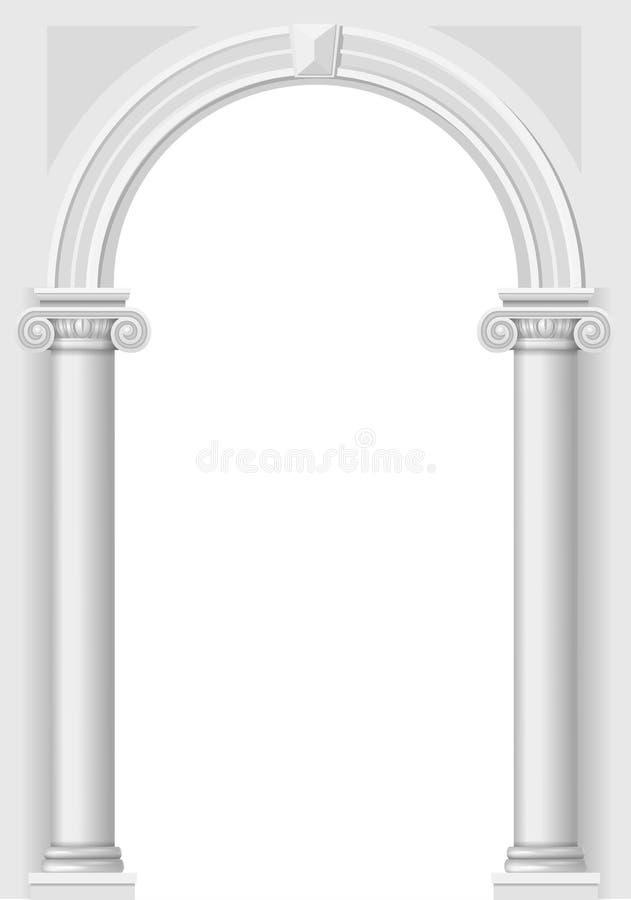 Arco branco clássico ilustração stock