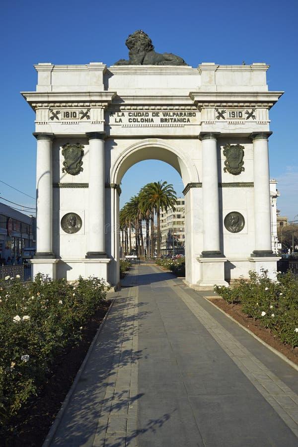 Arco Britanico en Valparaiso fotografía de archivo libre de regalías