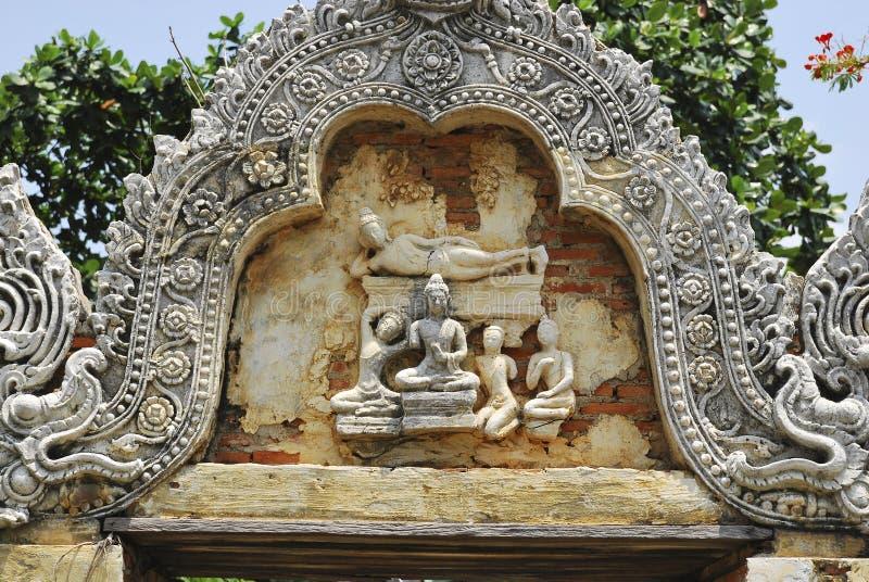 Arco cambojano de Buddha imagem de stock