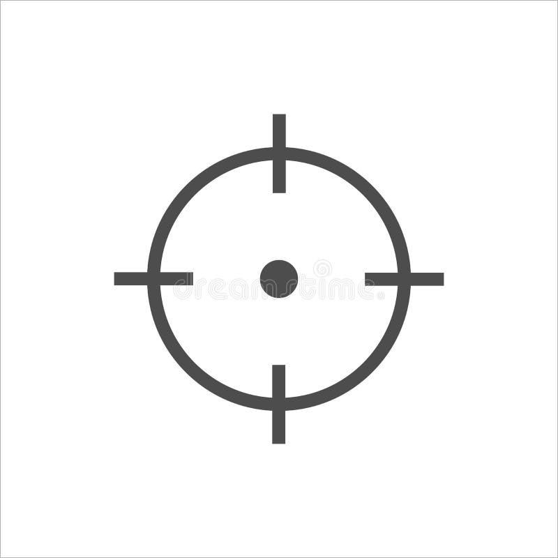 Arco, centro, foco, icono de la blanco Ejemplo del vector, diseño plano ilustración del vector