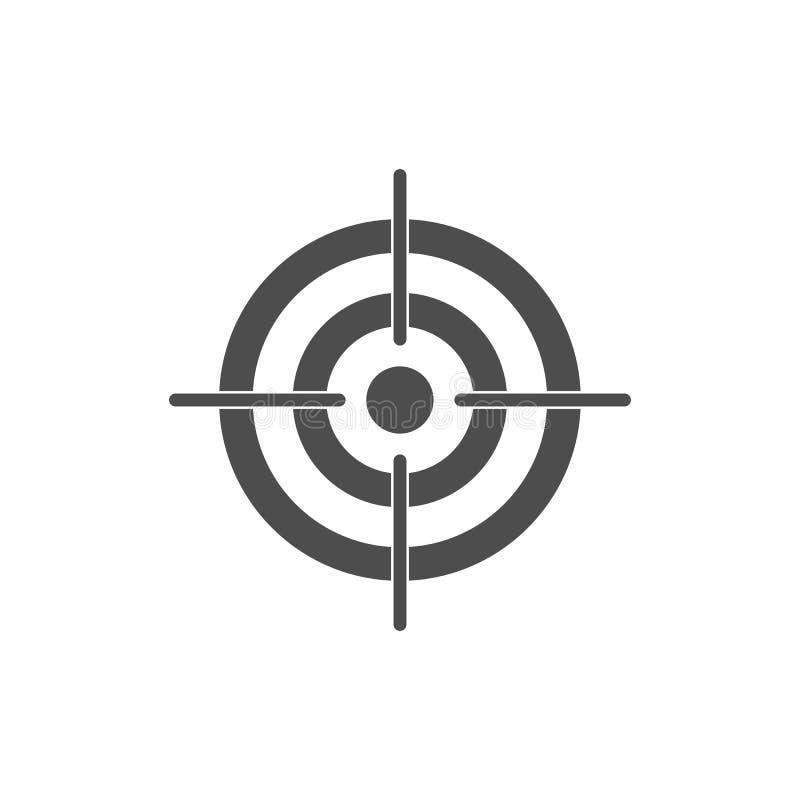 Arco, centro, foco, icono de la blanco Ejemplo del vector, dise?o plano ilustración del vector