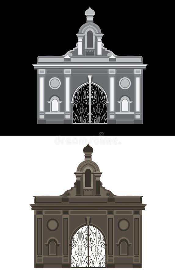 Arco clásico con las puertas libre illustration