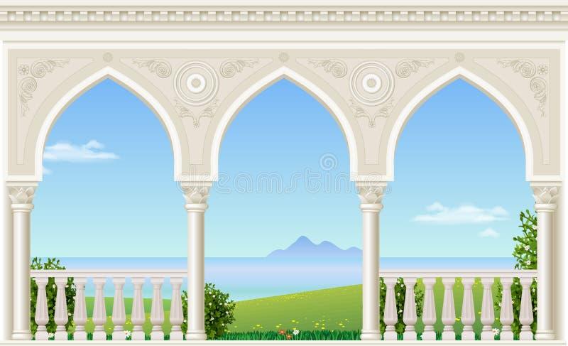 Arco clássico do palácio ilustração stock