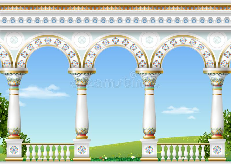 Arco clássico do palácio oriental ilustração do vetor