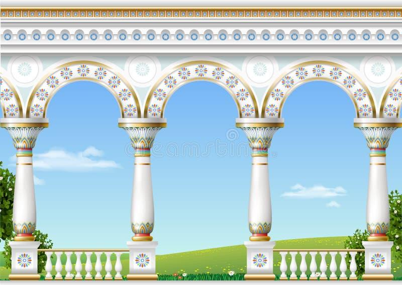 Arco classico del palazzo orientale illustrazione vettoriale