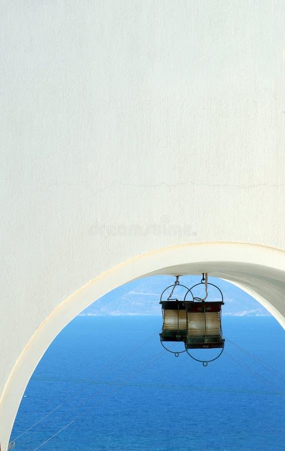 Arco con la luz imagen de archivo libre de regalías