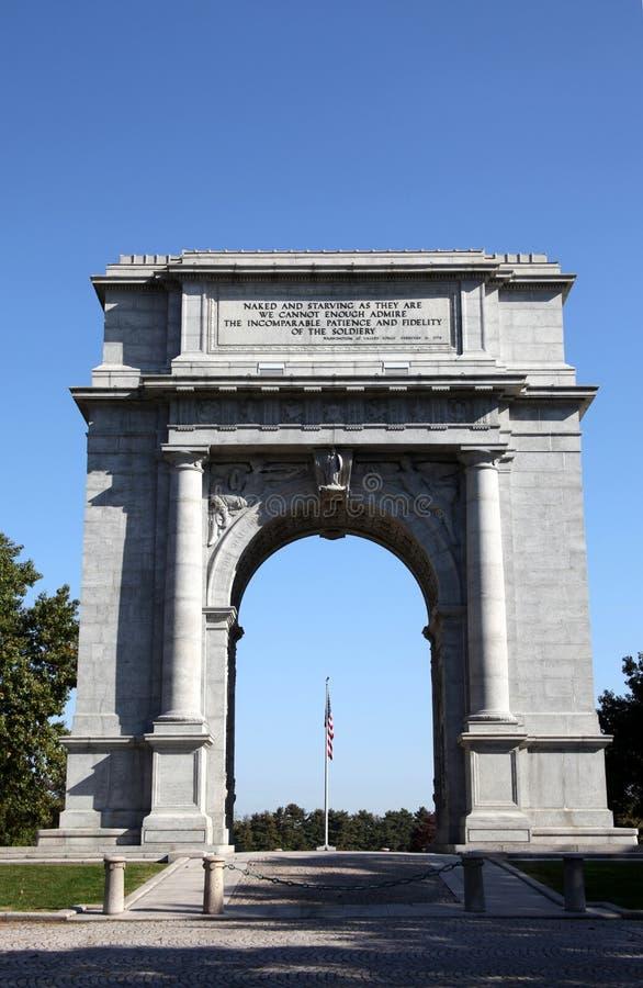 Arco conmemorativo nacional - fragua del valle fotos de archivo