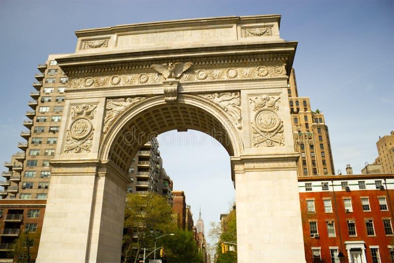 Arco cuadrado del parque de Washington, Nueva York foto de archivo
