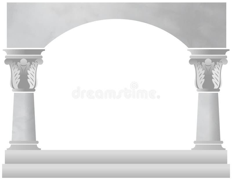 Arco da coluna de mármore ilustração do vetor