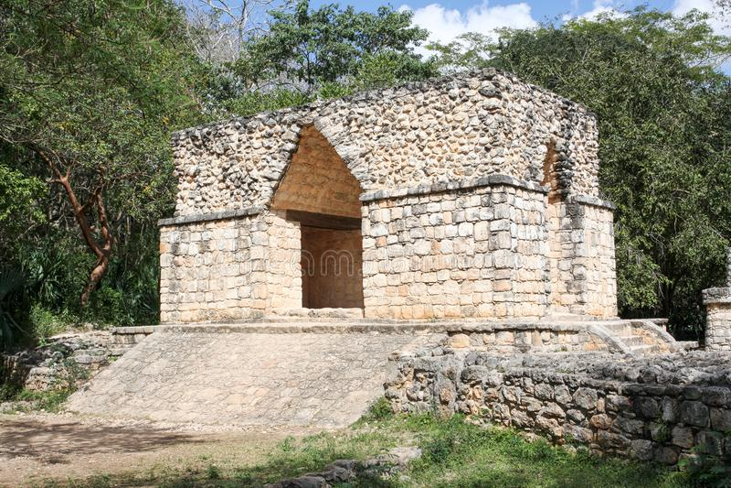 Arco da entrada às ruínas maias de Ek Balam fotos de stock royalty free