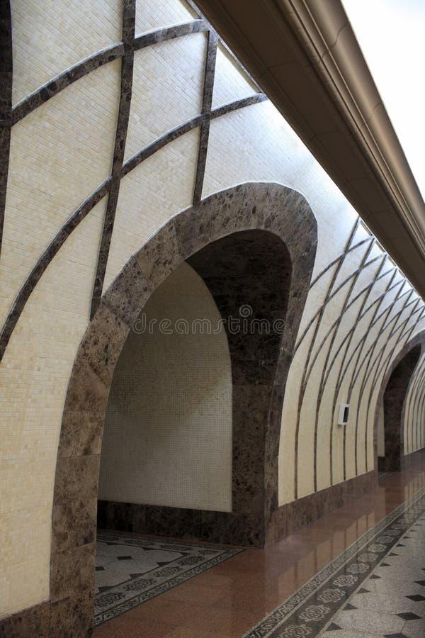 Arco da estação de metro fotografia de stock royalty free