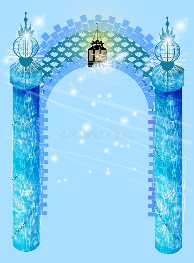 Arco da janela Véspera do ` s do ano novo com ilustração royalty free