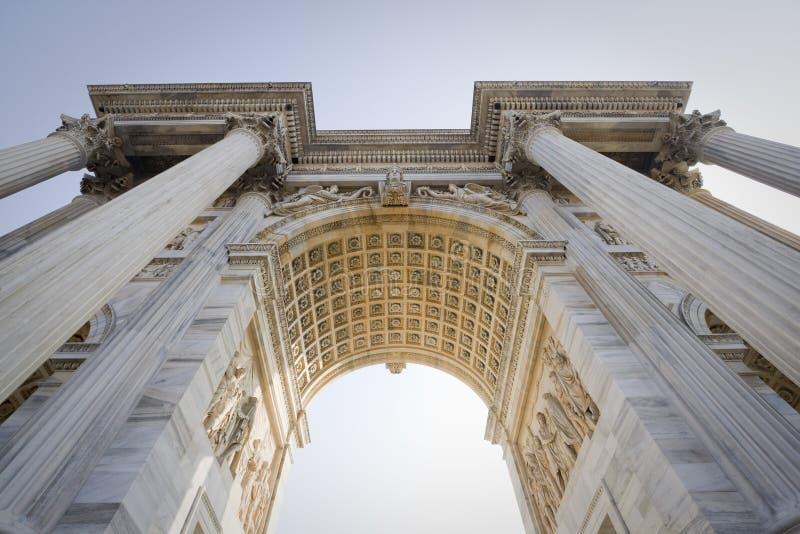 Arco da paz, Milão fotos de stock