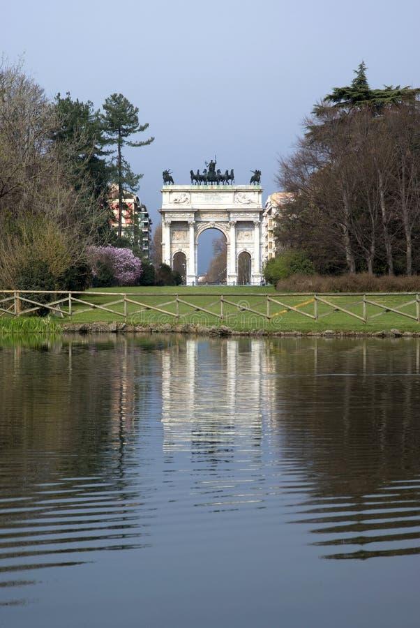 Arco da paz, Milão foto de stock royalty free