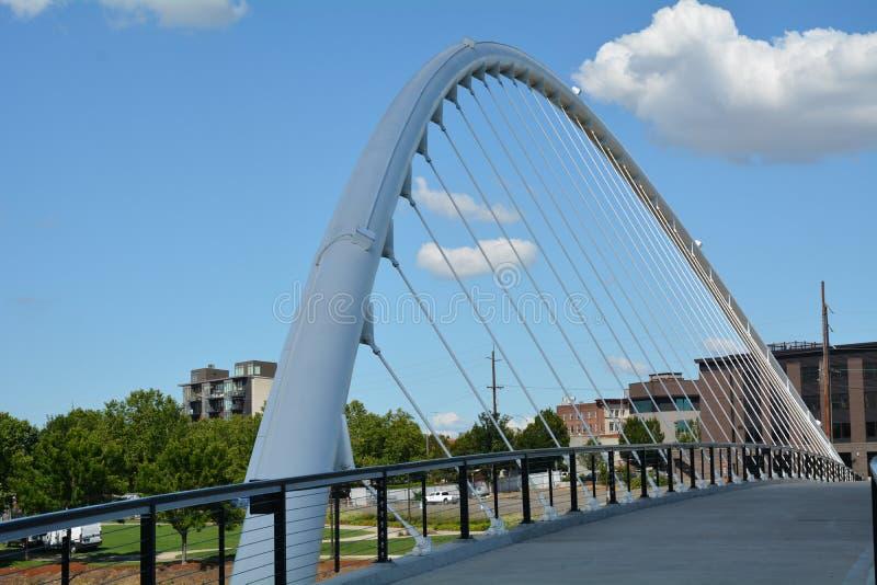 Arco da ponte em Salem, Oregon imagens de stock
