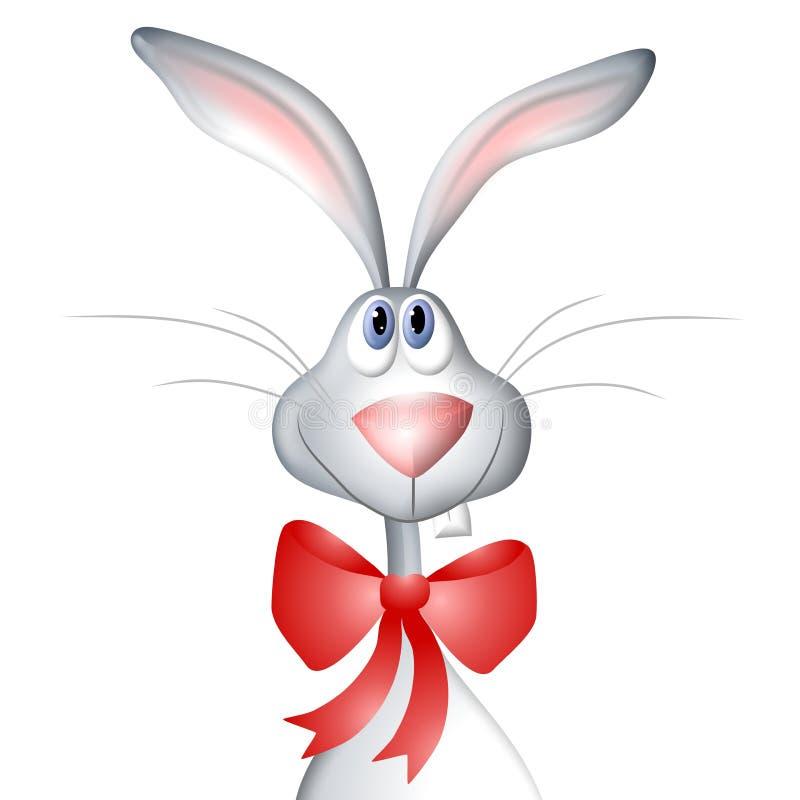 Arco da portare del coniglio di coniglietto di pasqua del fumetto illustrazione vettoriale