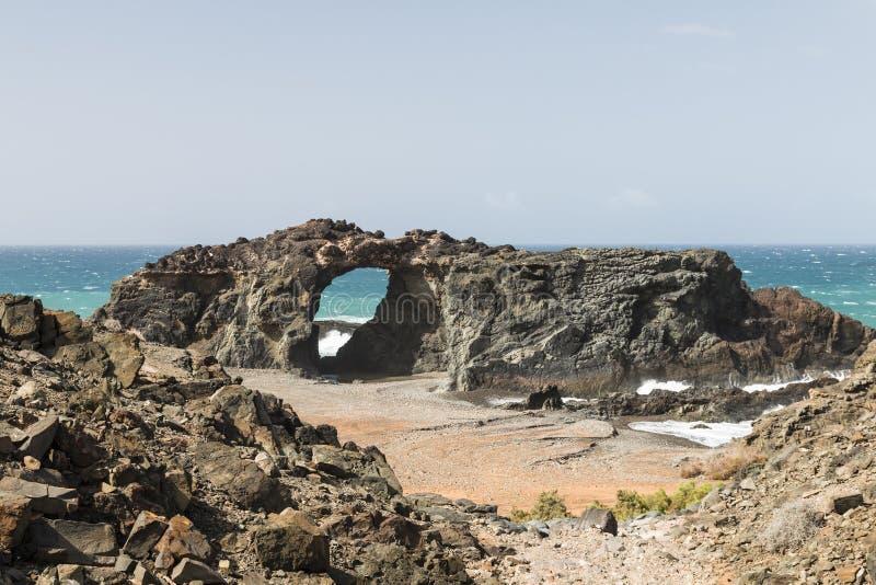 Arco da rocha, Fuerteventura fotos de stock royalty free