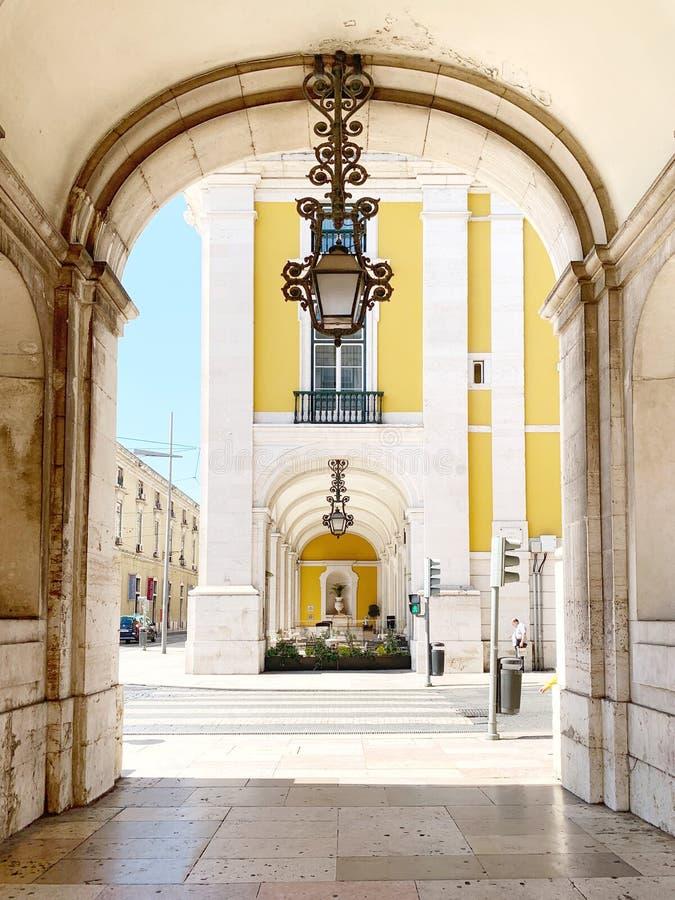 Arco da Rua Augusta, Lissabon stockbilder