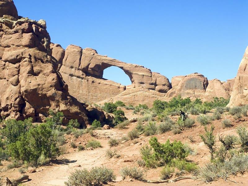 Arco da skyline, arcos parque nacional, Utá imagens de stock