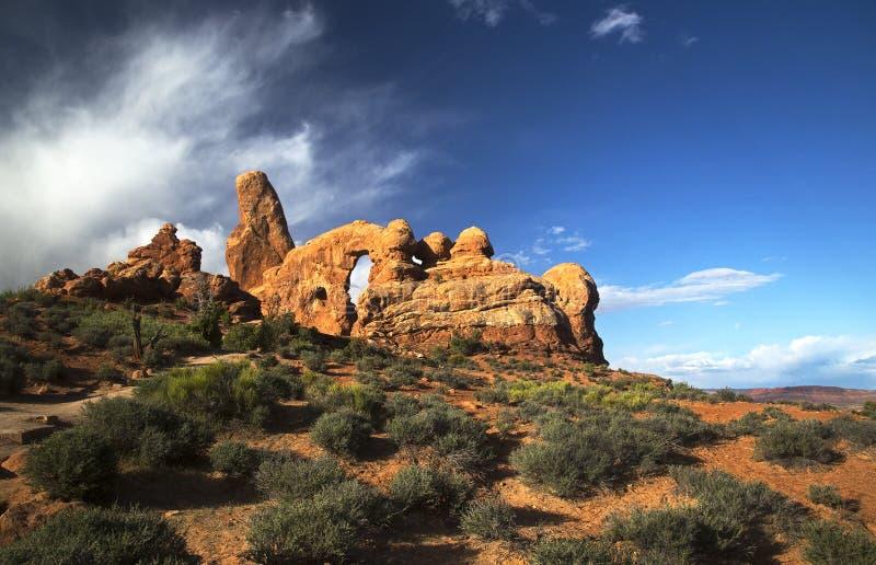 Arco da torreta, arcos parque nacional, Moab Utá foto de stock